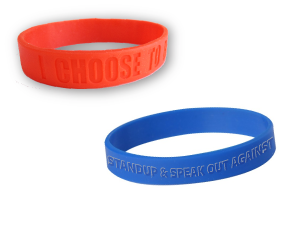 Red Ribbon Week Silicone Wristbands